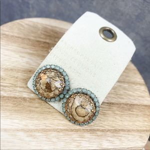 NEW Anthropologie Stone Post Earrings